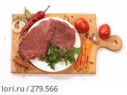 Купить «Сырое мясо», фото № 279566, снято 25 сентября 2005 г. (c) Кравецкий Геннадий / Фотобанк Лори