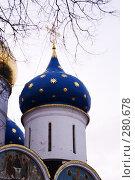 Купить «Купол центрального Храма Сергиева Посада сквозь ветви деревьев», фото № 280678, снято 1 марта 2008 г. (c) Sergey Toronto / Фотобанк Лори