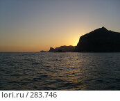 Крепостная скала на закате (2006 год). Стоковое фото, фотограф Светлана Соколова / Фотобанк Лори