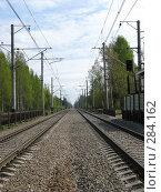 Купить «Железнодорожные пути», фото № 284162, снято 10 мая 2008 г. (c) Юлия Селезнева / Фотобанк Лори