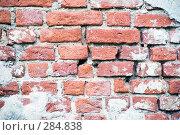 Купить «Старая кирпичная кладка с обвалившейся штукатуркой», эксклюзивное фото № 284838, снято 13 мая 2008 г. (c) Александр Щепин / Фотобанк Лори