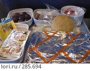 """Купить «Еда в самолете """"Air china""""», фото № 285694, снято 23 октября 2018 г. (c) Вера Тропынина / Фотобанк Лори"""