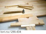 Купить «Молоток на деревянном полу», фото № 290434, снято 4 мая 2008 г. (c) Фролов Андрей / Фотобанк Лори
