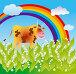 Весенняя корова, иллюстрация № 291378 (c) Олеся Сарычева / Фотобанк Лори