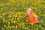 Красивая маленькая девочка на лугу, фото № 291506, снято 11 мая 2008 г. (c) Майя Крученкова / Фотобанк Лори