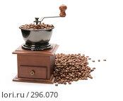 Купить «Кофемолка, изолировано на белом фоне», фото № 296070, снято 12 мая 2007 г. (c) Андрей Зык / Фотобанк Лори