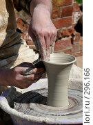 Купить «Гончар за работой», фото № 296166, снято 18 мая 2007 г. (c) Gagara / Фотобанк Лори