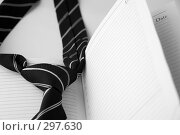 Галстук и ежедневник. Стоковое фото, фотограф Светлана Симонова / Фотобанк Лори