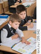 Купить «Первоклассники на уроке», фото № 299942, снято 14 мая 2008 г. (c) Федор Королевский / Фотобанк Лори