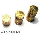 Три столбика монет. Стоковое фото, фотограф Павел Филатов / Фотобанк Лори