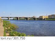 Купить «Река Волга и Нововолжский мост, Тверь», фото № 301750, снято 9 мая 2008 г. (c) Fro / Фотобанк Лори