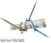 Купить «Связанный доллар», фото № 302862, снято 23 января 2008 г. (c) Иван / Фотобанк Лори
