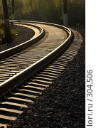 Железная дорога. Стоковое фото, фотограф Александр Иванов / Фотобанк Лори