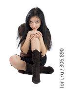 Купить «Юная девушка», фото № 306890, снято 10 декабря 2007 г. (c) Ольга Сапегина / Фотобанк Лори