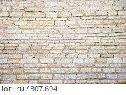 Купить «Каменная кладка восстановленного участка стены крепости», эксклюзивное фото № 307694, снято 17 мая 2008 г. (c) Александр Щепин / Фотобанк Лори