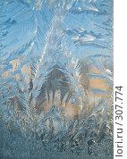 Купить «Узор на стекле», фото № 307774, снято 23 ноября 2007 г. (c) Максим Пименов / Фотобанк Лори