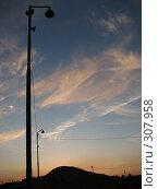 Купить «Фонари на закате», фото № 307958, снято 27 мая 2008 г. (c) Эдуард Кольга / Фотобанк Лори