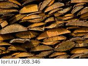 Русская поленница. Фоновое изображение. Стоковое фото, фотограф Harry / Фотобанк Лори