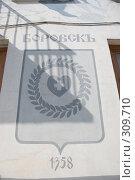 Купить «Эмблема Боровска, художник Овчинников», фото № 309710, снято 5 апреля 2008 г. (c) Лифанцева Елена / Фотобанк Лори