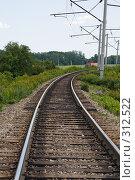 Купить «Железная дорога в предгорной зоне», фото № 312522, снято 4 июня 2008 г. (c) Федор Королевский / Фотобанк Лори