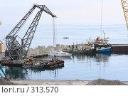 Купить «Ялта.Грузовой порт.», эксклюзивное фото № 313570, снято 2 мая 2008 г. (c) Дмитрий Неумоин / Фотобанк Лори