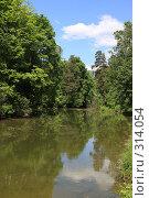 Подмосковный летний пейзаж. Река Чернавка, эксклюзивное фото № 314054, снято 2 июня 2008 г. (c) Дмитрий Неумоин / Фотобанк Лори