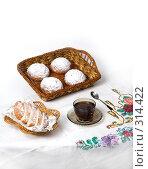 Купить «Утренний чай со свежими булочками», фото № 314422, снято 25 ноября 2007 г. (c) Сергей Байков / Фотобанк Лори