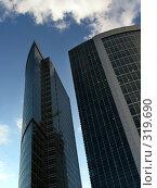 Купить «Современные небоскребы в Москва-Сити», фото № 319690, снято 11 августа 2006 г. (c) Дмитрий Яковлев / Фотобанк Лори