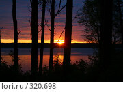 Рассвет над рекой. Стоковое фото, фотограф Баскаков Андрей / Фотобанк Лори