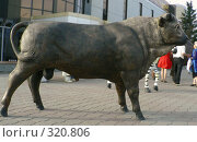 Купить «Фигура быка.  Караганда», фото № 320806, снято 22 сентября 2018 г. (c) Вера Тропынина / Фотобанк Лори