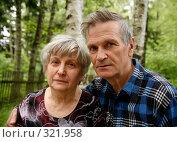 Купить «Пожилая пара», фото № 321958, снято 12 июня 2008 г. (c) Морозова Татьяна / Фотобанк Лори