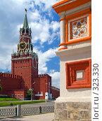 Купить «Москва. Вид на Спасскую башню Кремля», фото № 323330, снято 20 июня 2018 г. (c) Кирпинев Валерий / Фотобанк Лори