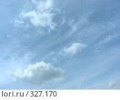 Купить «Белые воздушные облака на фоне молочно-голубого неба», эксклюзивное фото № 327170, снято 28 мая 2008 г. (c) lana1501 / Фотобанк Лори