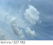 Купить «Белые воздушные облака на фоне молочно-голубого неба», эксклюзивное фото № 327182, снято 28 мая 2008 г. (c) lana1501 / Фотобанк Лори