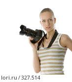 Купить «Девушка фотограф», фото № 327514, снято 28 мая 2006 г. (c) Алексей Попрыгин / Фотобанк Лори