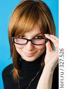 Молодая девушка в очках. Стоковое фото, фотограф Алексей Попрыгин / Фотобанк Лори