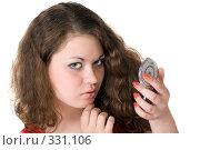 Купить «Портрет девушки с зеркальцем в руках», фото № 331106, снято 15 мая 2008 г. (c) Сергей Сухоруков / Фотобанк Лори