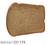 Купить «Ломоть ржаного хлеба на белом фоне», фото № 331174, снято 24 мая 2008 г. (c) Заноза-Ру / Фотобанк Лори