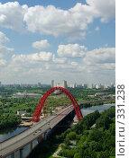 Купить «Современный мост, взгляд с высоты», фото № 331238, снято 20 июня 2008 г. (c) Дмитрий Тарасов / Фотобанк Лори