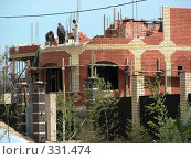 Купить «Строительство дома, квартал Абрамцево, Балашиха, Московская область», эксклюзивное фото № 331474, снято 9 июня 2008 г. (c) lana1501 / Фотобанк Лори