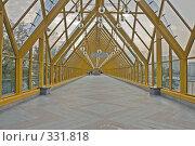 Купить «Интерьер крытого пешеходного Андреевского моста», фото № 331818, снято 21 июня 2008 г. (c) Эдуард Межерицкий / Фотобанк Лори