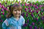 Счастливая девочка в тюльпанах, фото № 334698, снято 23 мая 2007 г. (c) Ольга Сапегина / Фотобанк Лори