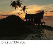 Купить «Закат на море», иллюстрация № 334766 (c) sav / Фотобанк Лори