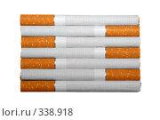 Прямоугольник из семи сигарет. Стоковое фото, фотограф Светлана Симонова / Фотобанк Лори