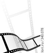 Купить «Абстрактный фон с фотопленкой», иллюстрация № 340078 (c) Лукиянова Наталья / Фотобанк Лори
