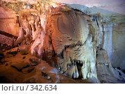 Купить «В Мраморных пещерах (Крым, Чатырдаг)», фото № 342634, снято 23 мая 2008 г. (c) Олег Титов / Фотобанк Лори