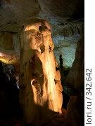 Купить «В Мраморных пещерах (Крым, Чатырдаг)», фото № 342642, снято 23 мая 2008 г. (c) Олег Титов / Фотобанк Лори