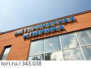 Купить «Ветеринарная клиника», эксклюзивное фото № 343038, снято 15 июня 2008 г. (c) Сергей Лаврентьев / Фотобанк Лори