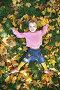Девочка лежит на траве, фото № 351066, снято 10 декабря 2016 г. (c) Losevsky Pavel / Фотобанк Лори