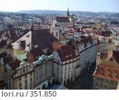 Вид на Прагу со Староместской ратуши (2006 год). Стоковое фото, фотограф Андрей Толстик / Фотобанк Лори